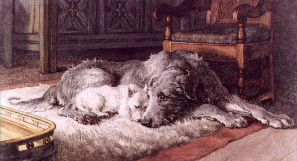 Wolfhounds In Art